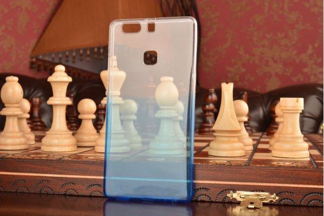 """Фирменная ультра-тонкая полимерная задняя панель-чехол-накладка из силикона для Huawei P9 + Plus (VIE-AL10 ) 5.5"""" прозрачная с эффектом дождя"""
