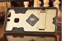 """Противоударный усиленный ударопрочный фирменный чехол-бампер-пенал для Huawei P9 + Plus (VIE-AL10 ) 5.5"""" золотой"""