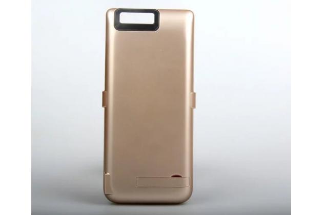 """Чехол-бампер со встроенной усиленной мощной батарей-аккумулятором большой повышенной расширенной ёмкости 5500mAh для Huawei P9 + Plus (VIE-AL10 ) 5.5""""  золотой + гарантия"""