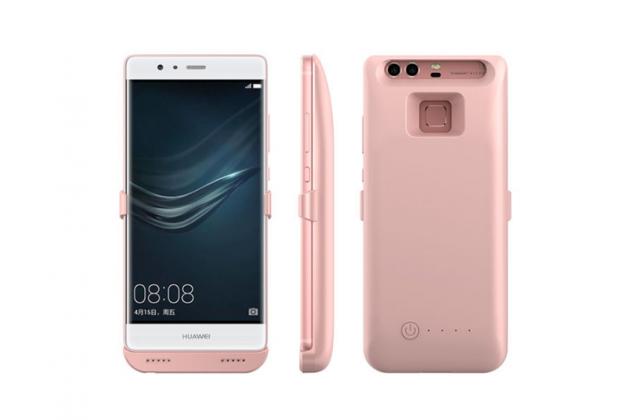 """Чехол-бампер со встроенной усиленной мощной батарей-аккумулятором большой повышенной расширенной ёмкости 8200mAh для Huawei P9 + Plus (VIE-AL10 ) 5.5""""  розовый + гарантия"""