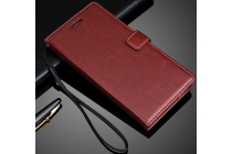 """Фирменный чехол-книжка из качественной импортной кожи с подставкой застёжкой и визитницей для Huawei P9 + Plus (VIE-AL10 ) 5.5""""  коричневый"""