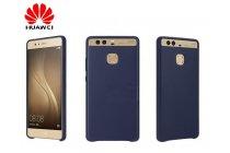 """Официальный оригинальный чехол бампер Cover Case с логотипом в фирменной упаковке для Huawei P9 + Plus (VIE-AL10 ) 5.5""""  из натуральной телячьей кожи синего цвета"""