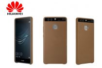 """Официальный оригинальный чехол бампер Cover Case с логотипом в фирменной упаковке для Huawei P9 + Plus (VIE-AL10 ) 5.5""""  из натуральной телячьей кожи коричневого цвета"""