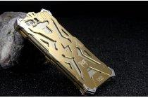 """Противоударный металлический чехол-бампер из цельного куска металла с усиленной защитой углов и необычным экстремальным дизайном  для  Huawei P9 + Plus (VIE-AL10 ) 5.5"""" золотого цвета"""
