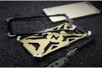 """Противоударный металлический чехол-бампер из цельного куска металла с усиленной защитой углов и необычным экстремальным дизайном  для Huawei P9 + Plus (VIE-AL10 ) 5.5""""  серебряного цвета"""