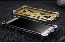 """Противоударный металлический чехол-бампер из цельного куска металла с усиленной защитой углов и необычным экстремальным дизайном  для  Huawei P9 + Plus (VIE-AL10 ) 5.5"""" черного цвета"""