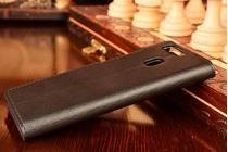 """Официальный оригинальный чехол книжка Smart View Cover с логотипом в фирменной упаковке для Huawei P9/ P9 Single sim/ P9 Dual sim с двумя задними камерами (EVA-L19 ) 5.2"""" с функцией умного окна черного цвета"""