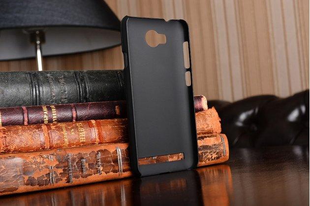 """Фирменная задняя панель-крышка-накладка из тончайшего и прочного пластика для Huawei Y3 2(II)/ Y3 2(II) LTE (LUA-L21) 4.5"""" черная"""