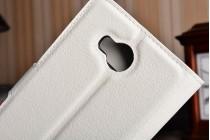 """Фирменный чехол-книжка из качественной импортной кожи с подставкой застёжкой и визитницей для Хуавей У3 2(II)/ У3 2(II) ЛТЕ (ЛУА-Л21) 4.5 """" белый"""