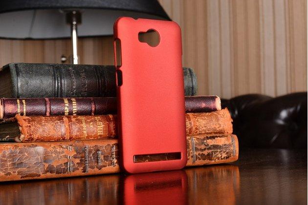 """Фирменная задняя панель-крышка-накладка из тончайшего и прочного пластика для Huawei Y3 2(II)/ Y3 2(II) LTE (LUA-L21) 4.5"""" красная"""
