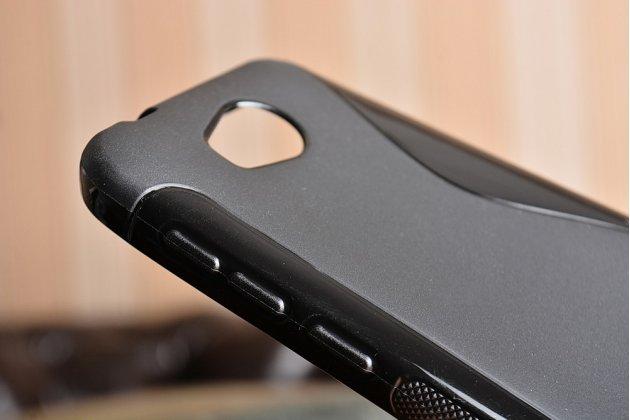 """Фирменная ультра-тонкая силиконовая задняя панель-чехол-накладка для Huawei Y3 2(II)/ Y3 2(II) LTE (LUA-L21) 4.5"""" черная"""