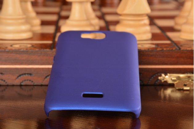 """Фирменная задняя панель-крышка-накладка из тончайшего и прочного пластика для Huawei Y3 2(II)/ Y3 2(II) LTE (LUA-L21) 4.5"""" синяя"""