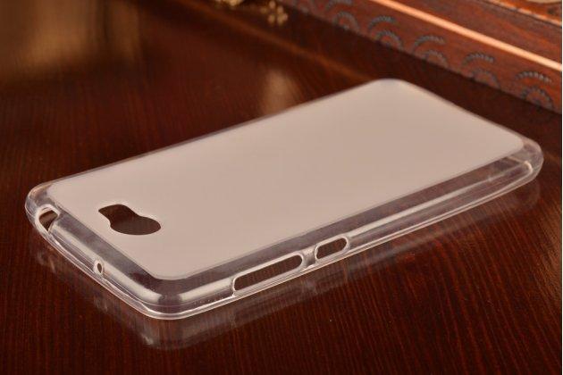 """Фирменная ультра-тонкая полимерная из мягкого качественного силикона задняя панель-чехол-накладка для Huawei Y5 2 (II) LTE / Huawei Honor 5A 5.0""""( LYO-L21) белая"""