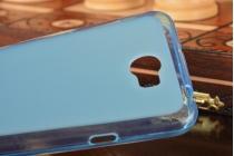 """Фирменная ультра-тонкая полимерная из мягкого качественного силикона задняя панель-чехол-накладка для Huawei Y5 2 (II) LTE / Huawei Honor 5A 5.0""""( LYO-L21) голубая"""