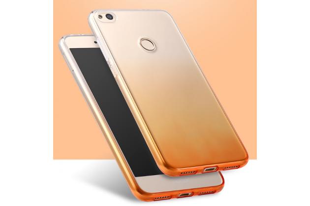 Фирменная ультра-тонкая полимерная задняя панель-чехол-накладка из силикона для Huawei Honor 8 Lite / Huawei P8 Lite 2017  прозрачная с эффектом песка