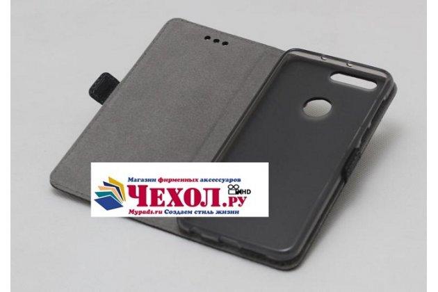 Фирменный оригинальный подлинный чехол с логотипом для Huawei Honor 9 Lite (LLD-AL00) из натуральной кожи крокодила светло-коричневый
