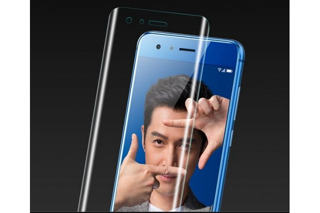 Фирменная оригинальная 3D защитная пленка с закругленными краями которое полностью закрывает экран для телефона Huawei Honor 9 Lite (LLD-AL00) глянцевая
