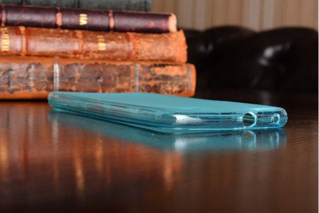 Фирменная ультра-тонкая полимерная из мягкого качественного силикона задняя панель-чехол-накладка для Huawei P10 Lite  голубая