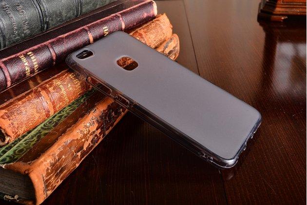 Фирменная ультра-тонкая полимерная из мягкого качественного силикона задняя панель-чехол-накладка для Huawei P10 Lite  серая