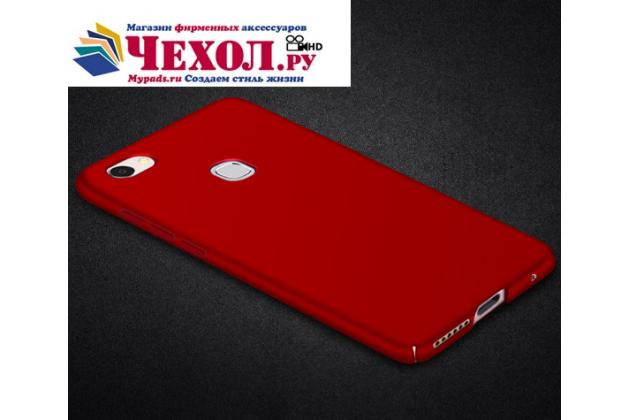 Фирменная задняя панель-чехол-накладка с защитными заглушками с защитой боковых кнопок для Huawei P10 Lite  красная