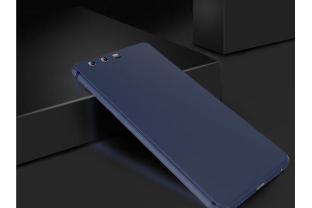 Фирменная ультра-тонкая полимерная из прочного качественного силикона задняя панель-чехол-накладка для Huawei P10 Plus синяя