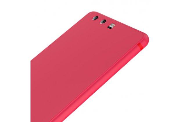 Фирменная ультра-тонкая полимерная из прочного качественного силикона задняя панель-чехол-накладка для Huawei P10 Plus красная