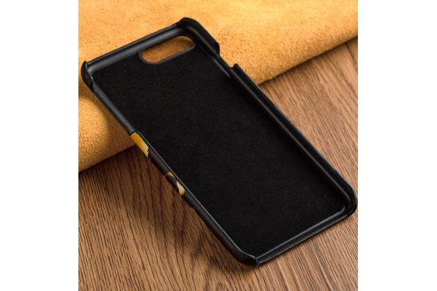 Фирменная роскошная эксклюзивная накладка с фактурным дизайном из натуральной кожи тематика Тигр для Huawei Honor 8 Lite / Huawei P8 Lite 2017 Edition. Только в нашем магазине