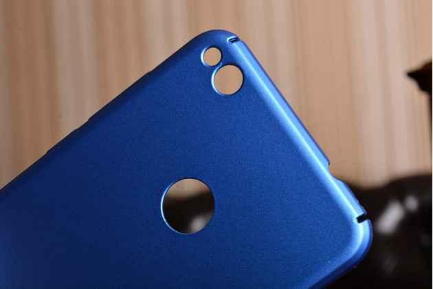 Фирменная задняя панель-крышка-накладка из тончайшего и прочного пластика для Huawei Honor 8 Lite / Huawei P8 Lite 2017 синий