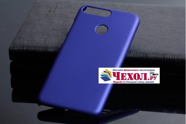 Фирменная задняя панель-крышка-накладка из тончайшего и прочного пластика для Huawei Honor 7C Pro/ Play 7C/ Y7 Prime 2018/ Nova 2 Lite  синий