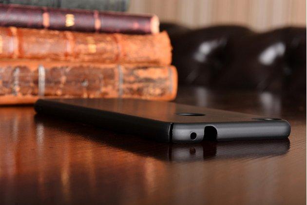 Фирменная задняя панель-крышка-накладка из тончайшего и прочного пластика для Huawei Honor 8 Lite / Huawei P8 Lite 2017 Edition черная