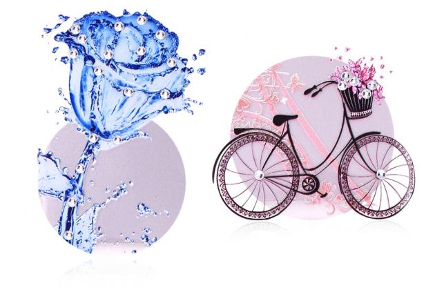 """Фирменная роскошная силиконовая задняя панель-накладка украшенная стразами кристалликами для Huawei Honor 8 Lite / Huawei P8 Lite 2017 Edition  тематика """"Водяная роза"""""""