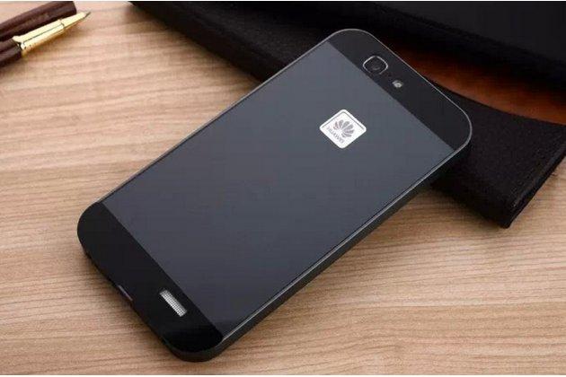 Фирменная металлическая задняя панель-крышка-накладка из тончайшего облегченного авиационного алюминия для Huawei Ascend G7 черная