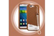 """Фирменная необычная уникальная полимерная мягкая задняя панель-чехол-накладка для Huawei Ascend G7 """"тематика Андроид в тёмном Шоколаде"""""""
