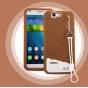 Фирменная необычная уникальная полимерная мягкая задняя панель-чехол-накладка для Huawei Ascend G7