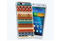 Фирменная роскошная задняя панель-чехол-накладка с безумно красивым расписным эклектичным узором на Huawei Ascend G7