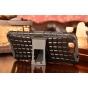 Противоударный усиленный ударопрочный фирменный чехол-бампер-пенал для Huawei Ascend G7 черный..