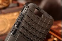 Противоударный усиленный ударопрочный фирменный чехол-бампер-пенал для Huawei Ascend G7 черный