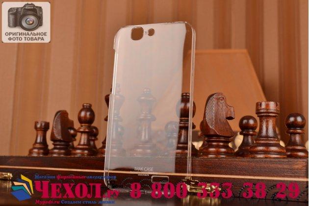 Фирменная ультра-тонкая пластиковая задняя панель-чехол-накладка для Huawei Ascend G7 прозрачная