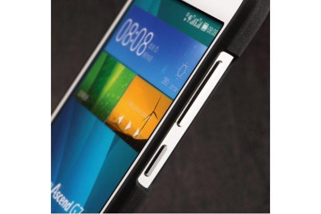 Фирменная задняя панель-крышка-накладка из тончайшего и прочного пластика для Huawei Ascend G7 черная