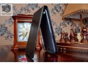 Фирменный оригинальный вертикальный откидной чехол-флип для Huawei Ascend G7 черный из качественной импортной ..