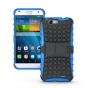 Противоударный усиленный ударопрочный фирменный чехол-бампер-пенал для Huawei Ascend G7 синий..