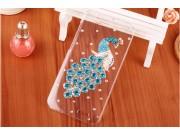Фирменная роскошная элитная пластиковая задняя панель-накладка украшенная стразами кристалликами и декорирован..