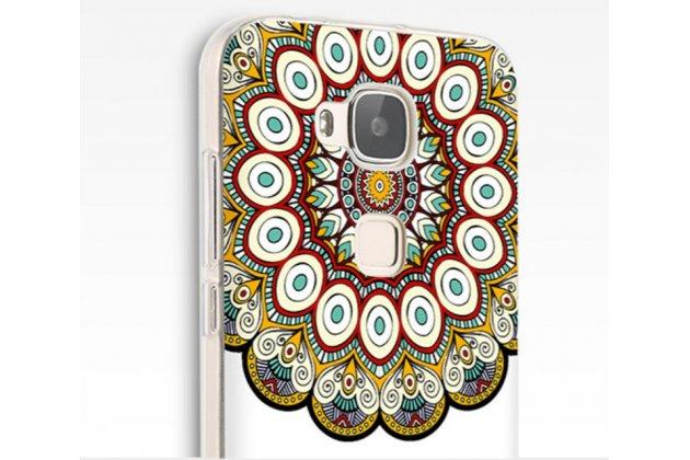 """Фирменная роскошная задняя панель-чехол-накладка из мягкого силикона с объемным  3D изображением  на Huawei Ascend G7 с безумно красивым рисунком  """"Тематика Стильные узоры"""""""