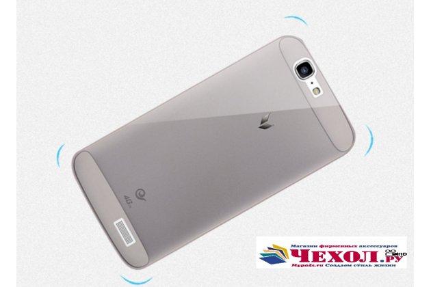 Фирменная ультра-тонкая полимерная из мягкого качественного силикона задняя панель-чехол-накладка для Huawei Ascend G7 черная