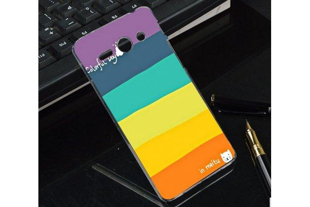 """Фирменная необычная из легчайшего и тончайшего пластика задняя панель-чехол-накладка для Huawei Ascend Y530 """"тематика Все цвета Радуги"""""""