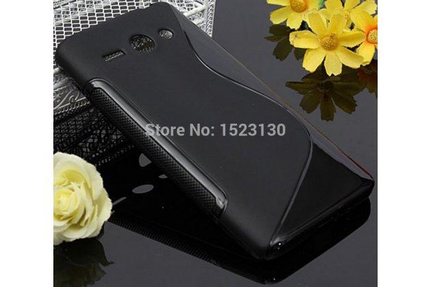 Фирменная ультра-тонкая полимерная из мягкого качественного силикона задняя панель-чехол-накладка для Huawei Ascend Y530 черная