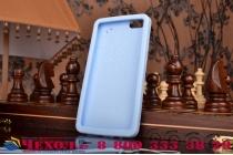 """Фирменная необычная уникальная полимерная мягкая задняя панель-чехол-накладка для Huawei Honor 4X  """"тематика Андроид в Черничном  Шоколаде"""""""