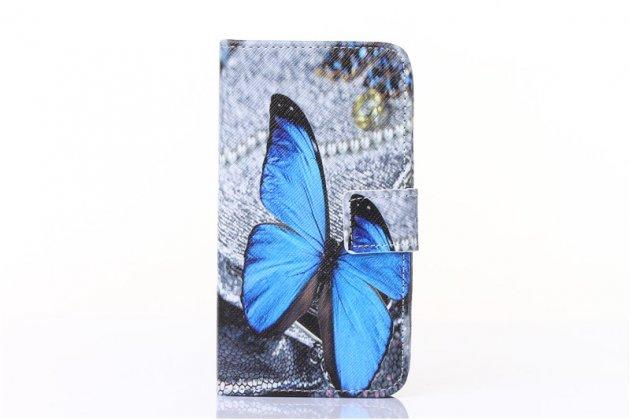 Фирменный уникальный необычный чехол-книжка для Huawei Honor 4C тематика Бабочки