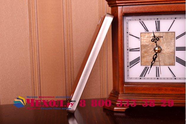 Фирменная роскошная элитная премиальная задняя панель-крышка на металлической основе обтянутая импортной кожей для Huawei Honor 4C королевский коричневый