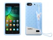 Фирменная необычная уникальная полимерная мягкая задняя панель-чехол-накладка для Huawei Honor 4c